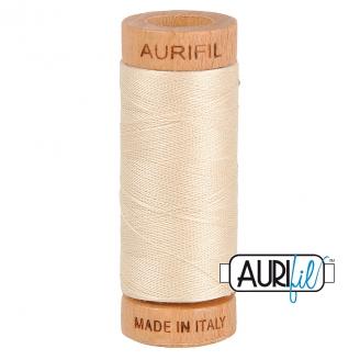 Fil de coton Mako 80 Aurifil - Ecru 2310