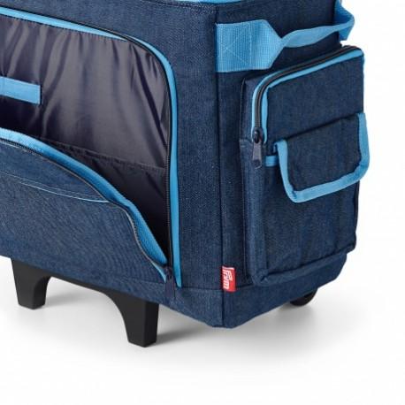 Trolley en jeans pour machine à coudre