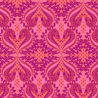 Tissu patchwork Tula Pink Cygne rose Gate keeper – Pinkerville