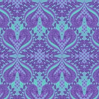 Tissu patchwork Tula Pink Cygne violet Gate Keeper – Pinkerville