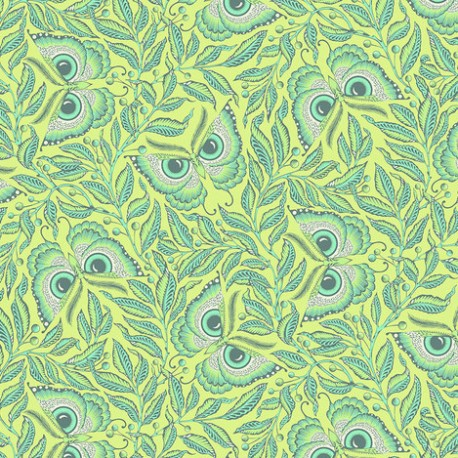 Tissu patchwork Tula Pink Papillons verts Enlightement – Pinkerville