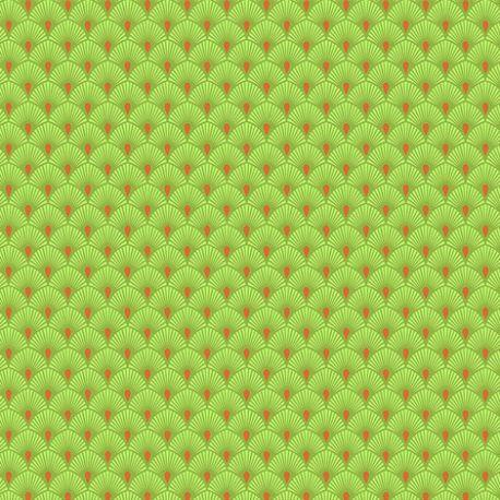 Tissu patchwork Tula Pink éventails vert Serenity  – Pinkerville