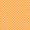Tissu patchwork Tula Pink pois blancs fond orange Pom Poms