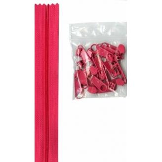 Fermeture à glissière de 3,65 m multiples curseurs - Rose Lipstick