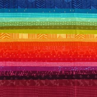 Joli roll de tissus batiks modernes - Festival