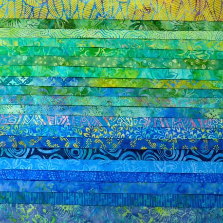 Joli roll de tissus batik - Amazone