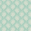 Tissu Tilda Summer Picnic Teal fond turquoise - The Circus
