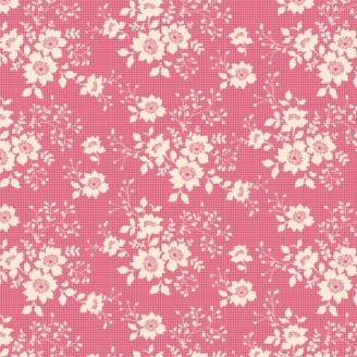 Tissu Tilda libby pink fond rose