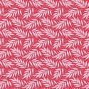 Tissu Tilda Berry Leaf Red fond rouge - Cottage