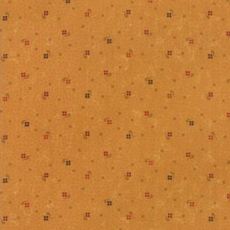 Tissu patchwork carrés fond caramel - On Meadowlark Pond