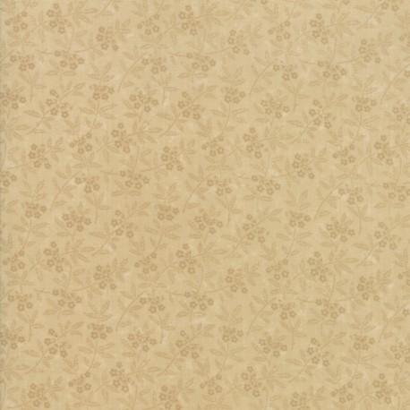 Tissu patchwork minis fleurs beiges ton sur ton - On Meadowlark Pond