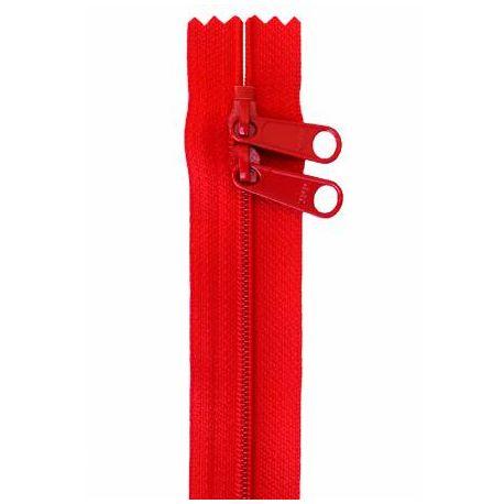 Fermeture à glissière de 3,65 m multiples curseurs - Rouge atomique