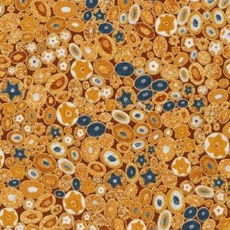 Tissu Gustav Klimt Millefiori doré