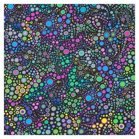 Tissu patchwork bulles violettes Mardi Gras - Effervescence