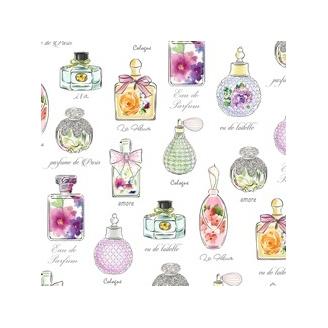 Tissu patchwork flacons de parfums - Amour de fleur