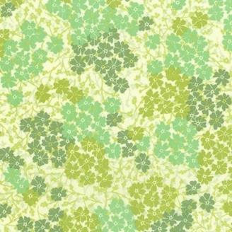 Tissu patchwork trèfles verts