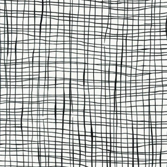 Tissu patchwork quadrillage noir fond blanc - Pen and Ink 2