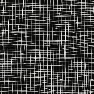 Tissu patchwork quadrillage blanc fond noir - Pen and Ink 2