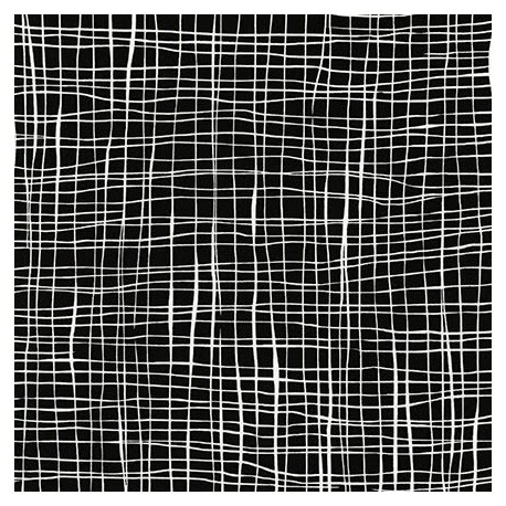 Tissu patchwork quadrillage blanc fond noir - Pen and Ink 2