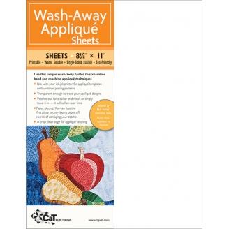 Stabilisateur hydrosoluble pour l'Appliqué: Wash-away appliqué sheets