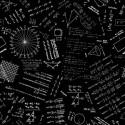 Tissu patchwork mathématiques fond noir - Do the math