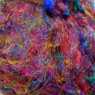 Sachet de fils de soie multicolores