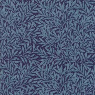 Tissu patchwork reproduction de William Morris feuilles de saule bleu foncé - Morris Garden