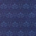 Tissu patchwork reproduction de William Morris couronne de fleurs bleu foncé - Morris Garden