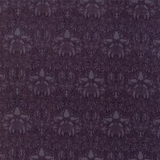 Tissu patchwork reproduction de William Morris couronne de fleurs noires - Morris Garden