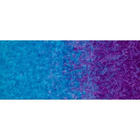 Tissu batik marbré en dégradé bleu/violet Grape - Patina