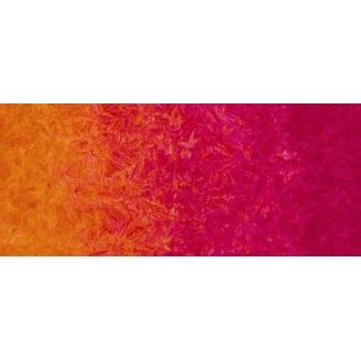 Tissu batik marbré en dégradé orange/fuchsia Sorbet - Patina