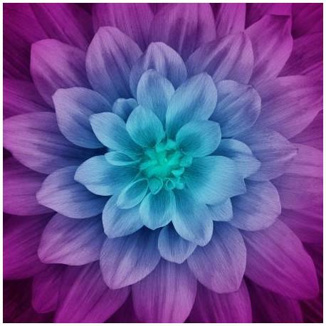 Panneau de tissu patchwork Dahlia Dream Big - Aurora