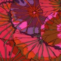 Tissu Kaffe Fassett feuilles de Lotus lie de vin (Lotus leaf wine)