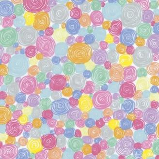 Tissu Kaffe Fassett pastel à spirales Rolled Paper GP158_
