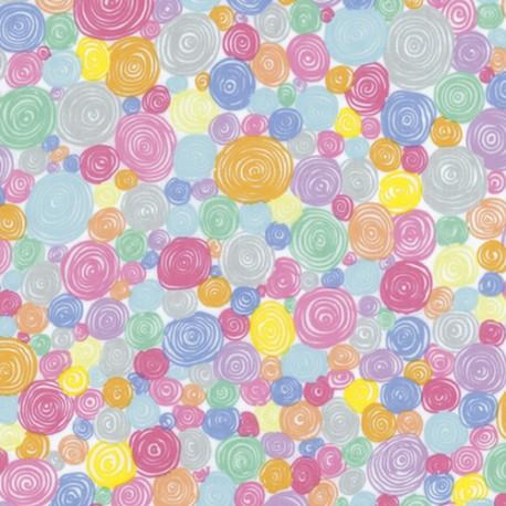 Tissu Kaffe Fassett pastel à spirales Rolled Paper GP158