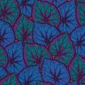 Tissu Philip Jacobs Begonia bleu PJ018