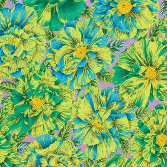 Tissu Philip Jacobs fleurs vertes Bouffant PJ018
