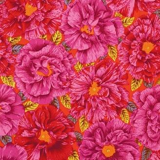 Tissu Philip Jacobs fleurs rouges Bouffant PJ018
