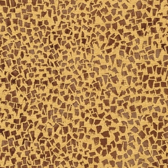 Tissu Gustav Klimt éclats marrons fond doré