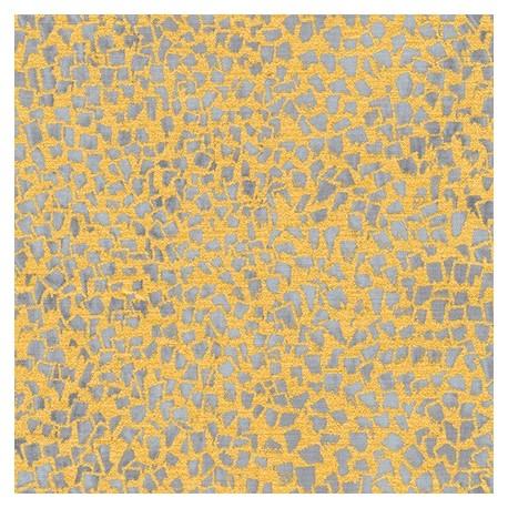 Tissu Gustav Klimt éclats gris clair fond doré