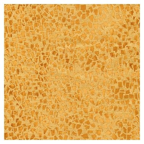 Tissu Gustav Klimt éclats ocre fond doré
