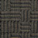 Tissu patchwork ressorts blancs et lignes dorées fond noir - Wayside