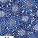 Tissu patchwork tournesols bleus - Murmur de Valori Wells
