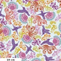 Tissu patchwork colibris multico fond écru - Murmur de Valori Wells