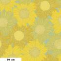 Tissu patchwork tournesols jaunes - Murmur de Valori Wells
