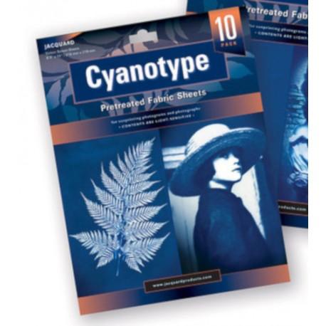 Cyanotype, feuilles de coton pré-traitées