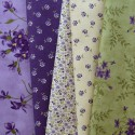 5 coupons de tissus Sweet Violet de Jan Patek