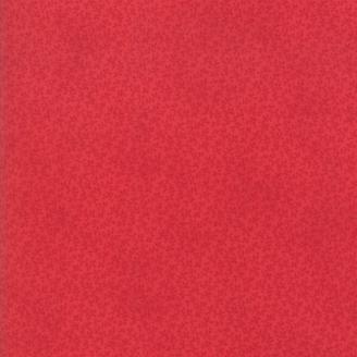 Tissu patchwork classique minis feuilles rouges ton sur ton - Cinnaberry de 3 Sisters