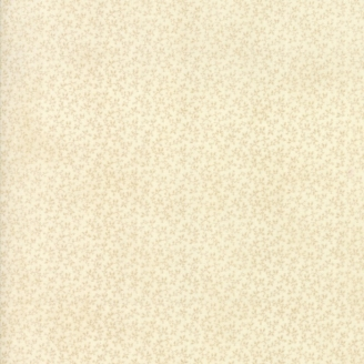 Tissu patchwork classique minis feuilles écrues ton sur ton - Cinnaberry de 3 Sisters