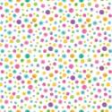 Tissu patchwork pois multico fond blanc  - By Golly, Get Jolly !